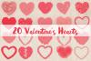 20 Valentine's Hearts example image 1