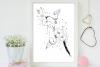 black bunch floral Doodle Art A1, SVG example image 5