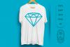 Diamond SVG Cut File , Diamond outline , Engagement Party example image 4