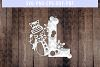 Snowman Font L Paper Cut Template, Winter Cutting SVG, DXF example image 2