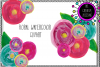 Floral Watercolor Clipart example image 1