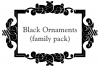 Black Ornaments (FAMILY PACK) example image 1