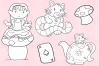 Wonderland Story Book Digital Stamps example image 5