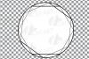 Geometric lineal black frames decor clip art. Wedding border example image 6