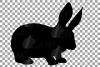 Rabbit family silhouettes, bunny silhouette svg cutting file example image 11