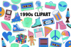 Neon 90's Clipart Set - 25 icons example image 2
