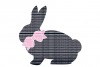 Easter Bunny SVG, Bow SVG, Files Printable DXF EPS PNG JPG Cut Files Circuit Design Files Silhouette Cameo Files Commercial Use example image 1