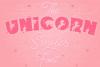 Unicorn Smiles Layered Font plus Bonus Files | Unicorn Font example image 1