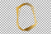 Chaotic geometric golden frames, lineal frames clip art example image 6