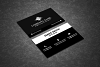 Black & White Business Card example image 2