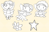 Cute Fairies Digital Stamps example image 3