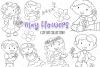 May Flowers Digital Stamps example image 1