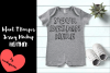 Infant T Romper Jersey Mockup - HEATHER example image 1