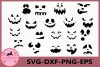 Halloween Svg, Pumpkin Faces Svg, Halloween Clipart example image 1