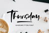Thursday - Handwritten Font example image 1