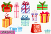 Christmas Presents Watercolor Clipart, Instant Download example image 2