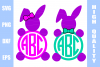 Easter Bunny Monograms svg  example image 1