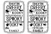 Halloween Family Last Name Cutting File Creepy and Kooky example image 2