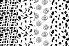 37 monochrome patterns. Hand drawn seamless backgrounds. example image 9