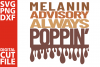 Melanin advisory always poppin svg, Black woman, Afro Queen example image 1