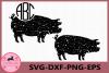 Pig Grunge SVG, Bacon Farm svg, Animals Svg, Distressed, Pig example image 1