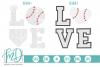 Baseball Love - Love baseball SVG, DXF, AI, EPS, PNG, JPEG example image 1