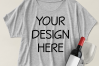 Boxy Crop Top T-shirt Mockups - 4 example image 2