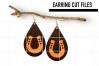 Horseshoe Earrings Svg, Earrings Svg, Teardrop Earrings Svg example image 1