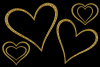 Glittery Gold Hearts example image 4