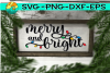 Merry and Bright - Christmas Lights - SVG PNG EPS DXF example image 1