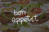 Yummy Burger- A handmade delicious font example image 9