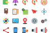 50 Web Interface Flat Multicolor Icons example image 2