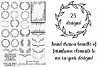 25 Hand Drawn Farmhouse Wreaths Swags Laurels Cutting Files example image 2