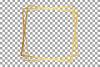 Elegant wedding geometric golden frames, lineal frames png example image 20