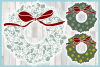 Christmas Wreath with Bow Mandala SVG Dxf Eps Png PDF files example image 3