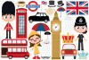 UK London Clipart, Instant Download Vector Art example image 2