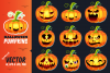 Halloween Pumpkins - Vector Set example image 1