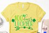 100 days luckier - St. Patrick's Day SVG EPS DXF PNG example image 3