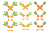 Carrot SVG Easter Monogram Quote in SVG, DXF, PNG, EPS, JPEG example image 3