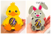 Animal egg holder designs Duck, Rabbit, Penguin and Lamb example image 2