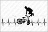 Cardio bicycle freestyle SVG files for Silhouette and Cricut example image 1
