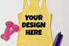 Ladies Tank Top Mockups - 20|Front/Back|PNG example image 15