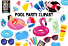 Pool Party Clipart example image 1