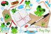 Frog Boys Watercolor Clipart, Instant Download Vector Art example image 4