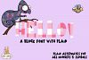 Plaid Chameleon A Block Font with Plaid example image 4