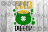 Pot Of Gold, Gold Digger, Clover, St. Patty's, Cut File, SVG example image 1