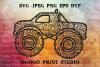 Mandala svg, Monster Truck SVG, Zentangle SVG, Auto svg, Car example image 1