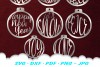 Christmas Ornament Earring SVG DXF Cut Files Bundle example image 3