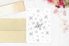 Floral Doodle Ink Pattern, A1, SVG example image 1