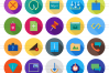 100 Material Design Flat Long Shadow Icons example image 2